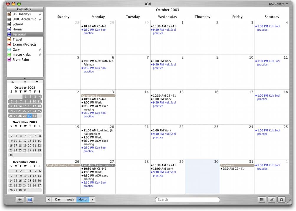 njr 3.0 » iCal displaying my October 2003 calendar