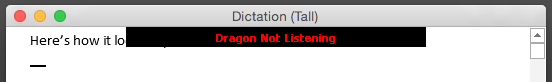 Dragon Not Listening