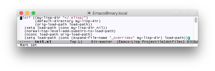 Emacs screen