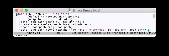 Emacs screen